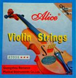 Set corzi vioara Alice A703 coarda E(mi) A(la) D(re) G(sol) strings