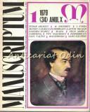 Cumpara ieftin Manuscriptum. Revista Trimestriala - Nr.: 1/1979 * (34) Anul X