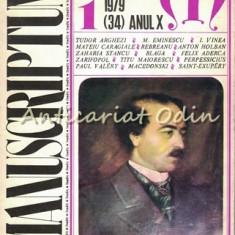 Manuscriptum. Revista Trimestriala - Nr.: 1/1979 * (34) Anul X