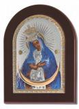 Maica Domnului Ostrobramskaya Foita de Argint 925 21x15cm color Cod Produs 1507