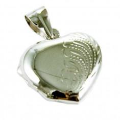 Pandantiv medalion pentru poza inima din argint