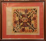 LUCIA BELLER ( 1889-1961 ) PROIECT PENTRU PERNA - TESUT DE COVOR, grafica color