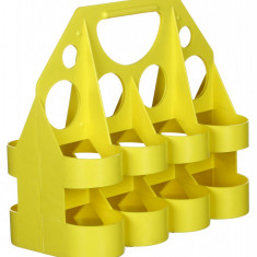 Suport bidoane - 8 Plastic galben