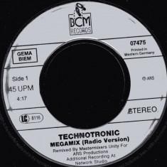 "Technotronic - Megamix (1990, BCM) Disc vinil single 7"""