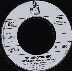 Technotronic - Megamix (1990, BCM) Disc vinil single 7