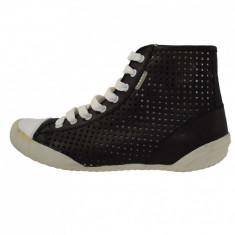Pantofi dama, din piele naturala, marca Endican, B945-1, negru 37