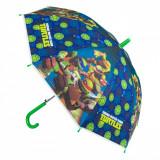 Umbrela pentru copii, model testoasele ninja, 46cm, multicolor
