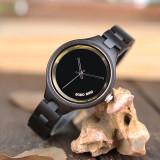 Cumpara ieftin Ceas din lemn Bobo Bird cu curea din lemn, P16