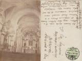 Cluj Napoca 1914 - biserica franciscana, interior, foto-CP circ