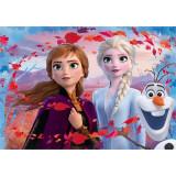 Puzzle de colorat maxi Elsa, Anna si Olaf Lisciani, 60 piese, 3 ani+