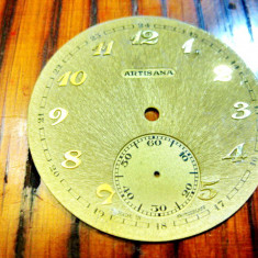 6601-Cadrane ceasuri buzunar metal staniu, aluminiu.