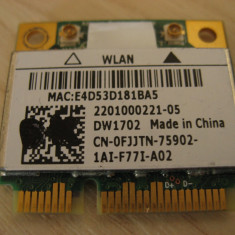 Placa wireless laptop Dell Vostro 1015, Dell DW1702, 0FJJTN, Atheros AR5B195