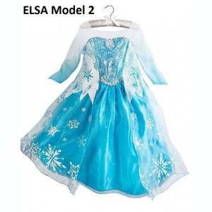 Rochita Elsa trena lunga, Rochie Frozen, petrecere, 7 ani