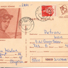 CPI B14282 CARTE POSTALA - PIONIERI AI AVIATIEI ROMANE ELENA CARAGIANI STOENESCU