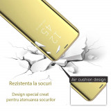 Cumpara ieftin Husa clear view Samsung J6 2018, Gold