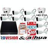 Cumpara ieftin Sistem supraveghere video profesional 10 camere Rovision ( OEM Dahua ) 8 de 5MP si 2 2MP