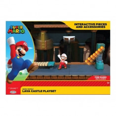 World of Nintendo Super Mario Playset Lava Castle foto