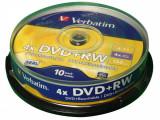 Mediu optic Verbatim DVD+RW 4.7Gb 4X 10 bucati