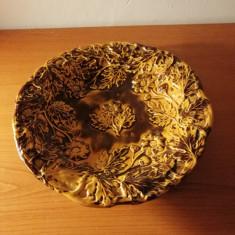 Farfurie/fructiera ceramica handmade marcata, diametru 21 cm