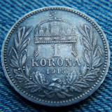 2n - 1 Korona 1915 Ungaria / argint / corona, coroana, Europa