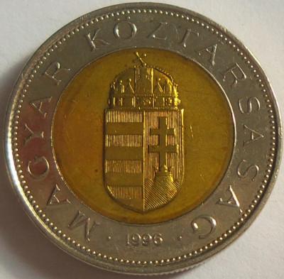 Moneda bimetal 100 FORINTI - UNGARIA, anul 1996 *cod 2312 A foto