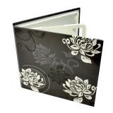 Carcasa 4 cd dvd model black & white, design floral culoare negru