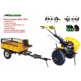 Pachet motocultor Campo 1803, benzina, EURO5, 18CP, 2+1 trepte, remorca 500kg, ulei motor si transmisie incluse