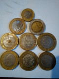 Lot monede straine bimetal