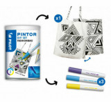 Set marker cu vopsea Pilot Pintor DIY Fashion, varf fin
