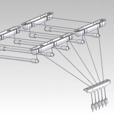 Uscator De Rufe Metalic 5 Linii 1,6M