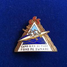 INSIGNA SPORTIVA - ROMANIA CAMPIONAT RPR DE MARE FOND PE DUNARE
