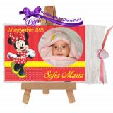Marturii botez magneti Handmade by Diana Puiu Minnie Mouse MDFM 14