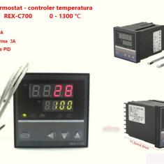 Termostat electronic Controler temperatura PID 0-400 REX-C700 cu sonda K