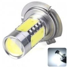 Becuri Led Epistar H7 cu Lupa, LED COB, 12V (proiectoare)