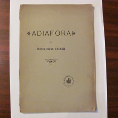 "GE - Iconom Const. NAZARIE ""Adiafora"" / 1904"