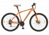 Bicicleta CARPAT 29 FIVE Aggresive cadru otel culoare portocaliu gri