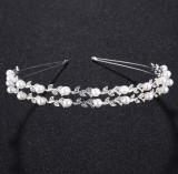 Tiara tip cordeluta cu perle Fantasy