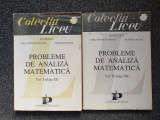 PROBLEME DE ANALIZA MATEMATICA - Petrica, Constantinscu, Petre (2 volume)