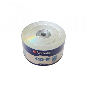 CD-R Verbatim, 700 MB, 52x, 50 bucati/bulk in folie