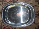 Tava ovala cromargan WMF,30x22cm. bordura decorata in relief, Vase