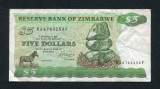 Zimbabwe 5 dollars 1983 VF P2c