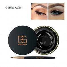 Tus Eyeliner Gel + pensula aplicare Beauty Glazed nuanta Negru