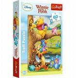 Puzzle Trefl Winnie the Pooh la treaba, 60 piese
