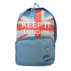 Ghiozdan Keep It London, unisex, gimnaziu si liceu, impermeabil, Pigna