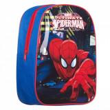 Ghiozdan gradinita pentru baieti cu limini, model Spider Man,25x9x31 cm