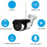 Cumpara ieftin Camera supraveghere exterioara, IP WIFI, tip bullet, comunicare bidirectionala, HD 1920*1080P, 2 MP, carcasa metalica, Escalate G2