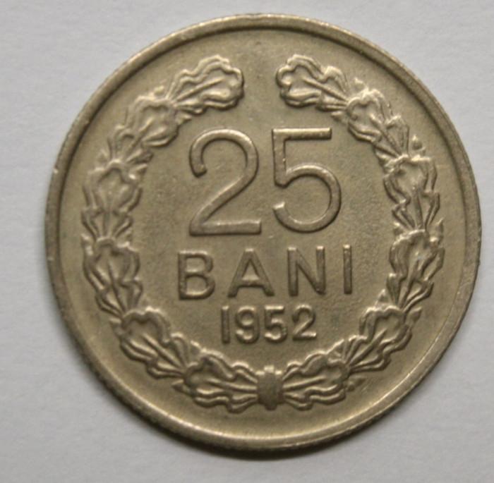 25 BANI 1952 . DETALII FRUMOASE .