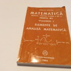 MIRCEA GANGA MATEMATICA MANUAL PENTRU CLASA A XII-A VOL 2 ANALIZA  P9