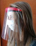 KIT Viziera protectoare frontala reutilizabila  plus 4 ecrane de protectie