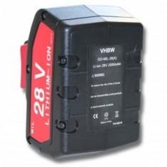 Acumulator pentru milwaukee v28 u.a. 28v, li-ion, 2000mah, M28B, M28BX